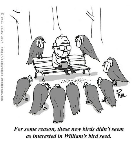 This cartoon hates the way old people are always carrion on - bigeyedeer.wordpress.com