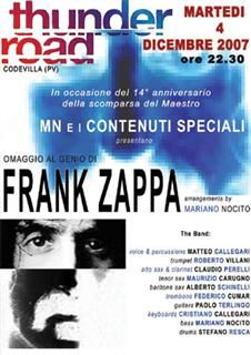 Frank Zappa - Concerto Memorial al Thunder Road 4 dicembre 2007