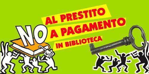 Campagna europea contro l\'introduzione del prestito a pagamento in biblioteca